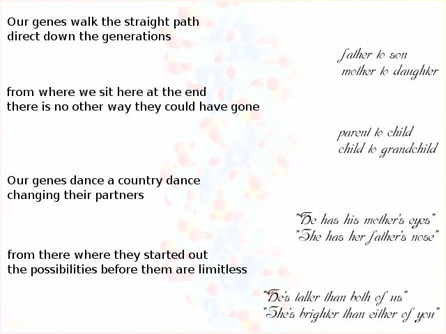 our genes walk poem