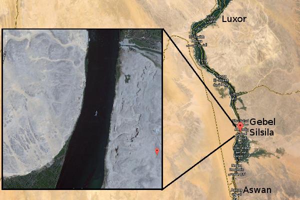 map of Gebel Silsila