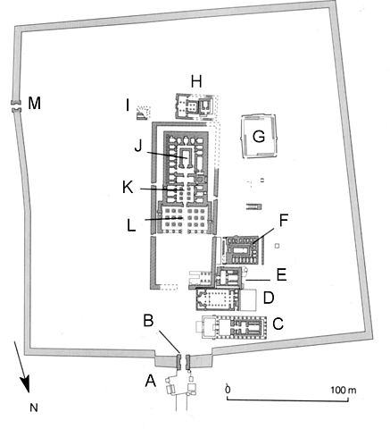 plan of Dendara Temple Complex