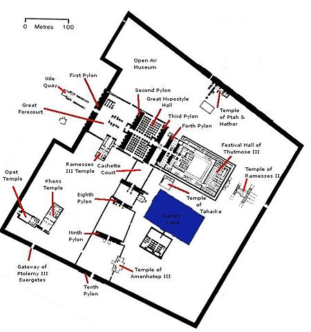 Plan of Karnak Temple Complex