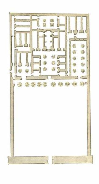 Plan of Mortuary Temple of Seti I